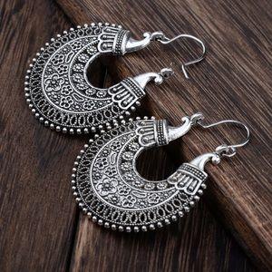 Jewelry - New Silver Hoop Boho Earrings